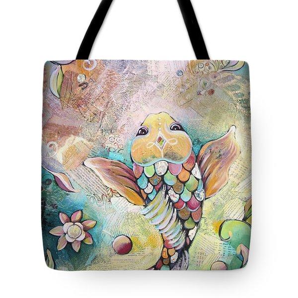 Joyful Koi II Tote Bag by Shadia Derbyshire