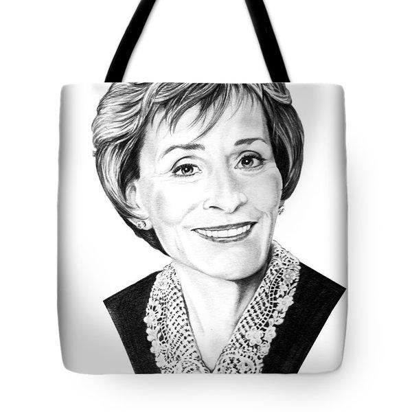 Judge Judith Sheindlin Tote Bag by Murphy Elliott
