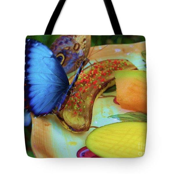 Juicy Fruit Tote Bag by Debbi Granruth