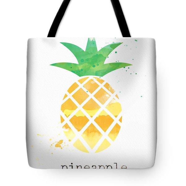 Juicy Pineapple Tote Bag by Linda Woods