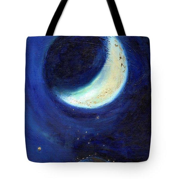 July Moon Tote Bag by Nancy Moniz