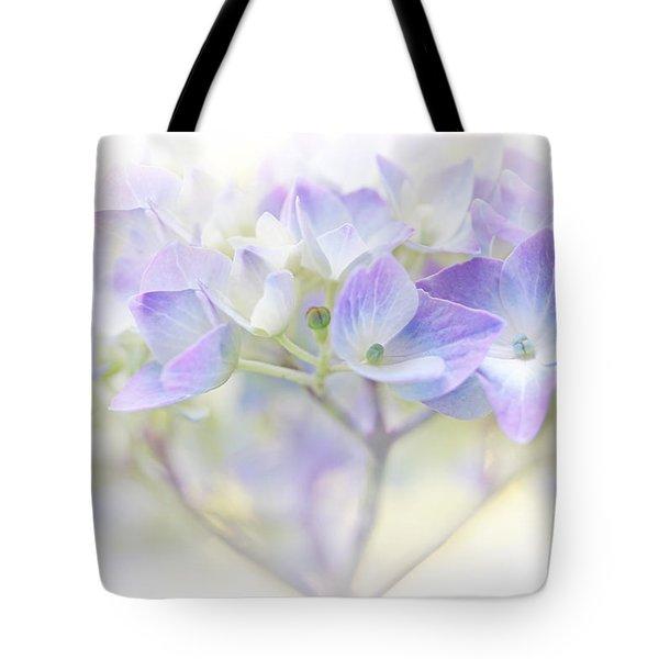 Just A Whisper Hydrangea Flower Tote Bag by Jennie Marie Schell