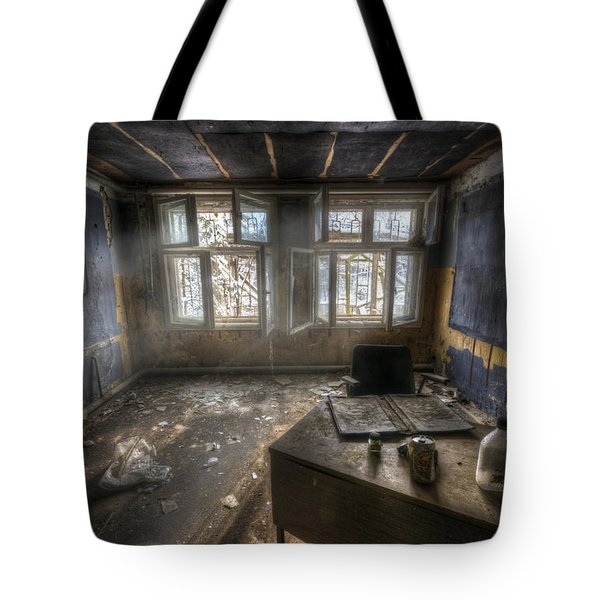 Just another day in the office Tote Bag by Nathan Wright