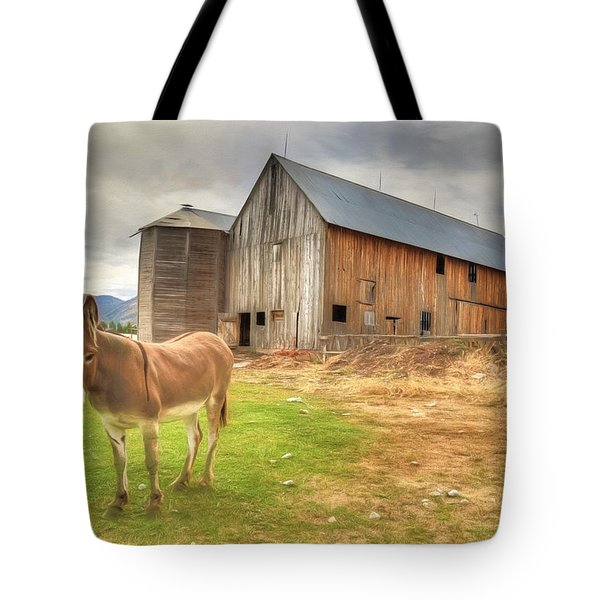 Just Another Day On The Farm Tote Bag by Donna Kennedy
