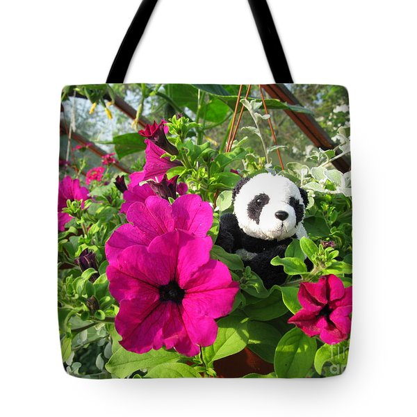 Just Hanging In There Tote Bag by Ausra Huntington nee Paulauskaite
