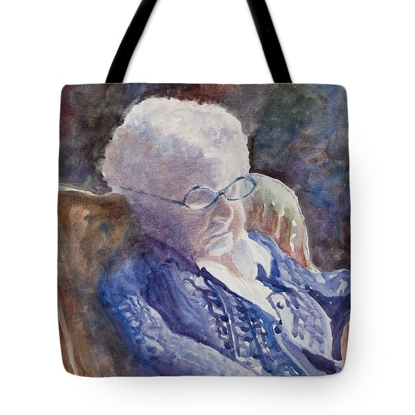 Just Resting My Eyes Tote Bag by Mary Benke