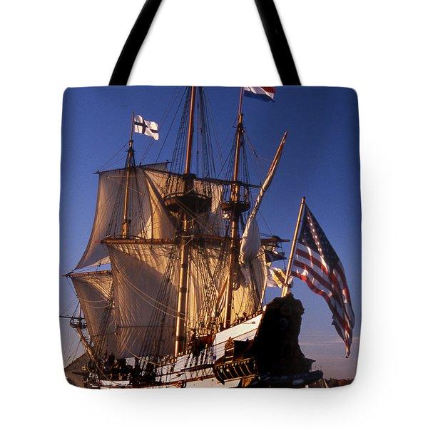 Kalmar Nyckel Tote Bag by Skip Willits
