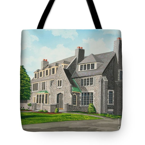 Kappa Delta Rho South View Tote Bag by Charlotte Blanchard
