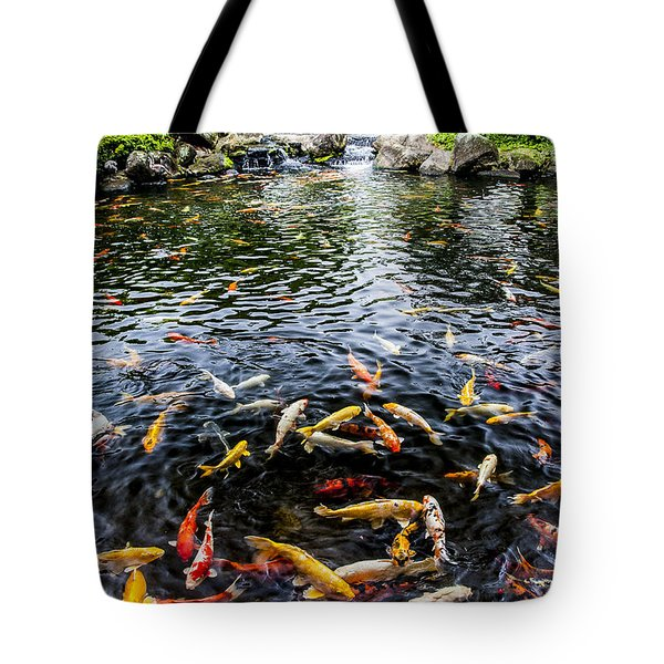 Kauai Koi Pond Tote Bag by Darcy Michaelchuk
