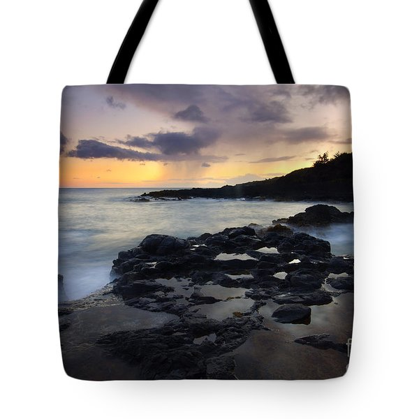 Kauai Storm Passing Tote Bag by Mike  Dawson