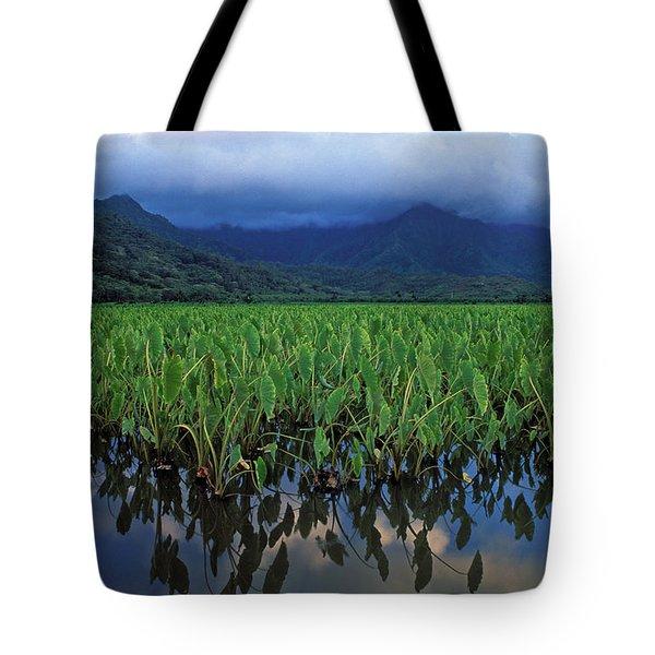 Kauai Taro Field Tote Bag by Kathy Yates