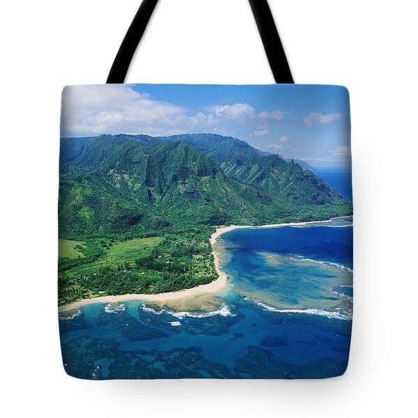 Kauai, Tunnels Beach Tote Bag by Greg Vaughn - Printscapes