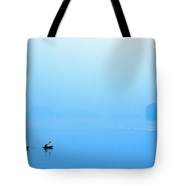 Kayaking Tote Bag by Skip Nall