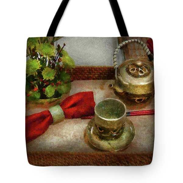 Kettle - Formal tea ceremony Tote Bag by Mike Savad
