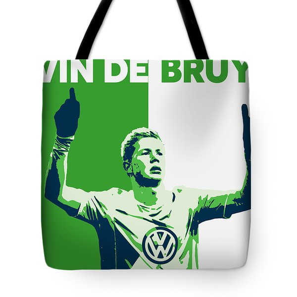 Kevin De Bruyne Tote Bag by Semih Yurdabak