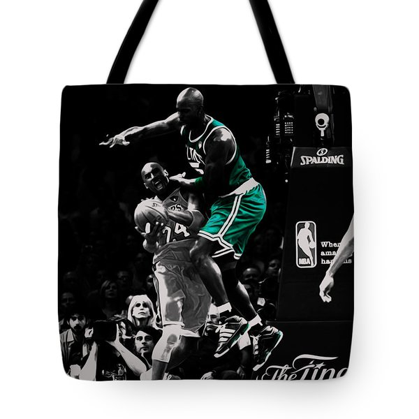 Kevin Garnett Not In Here Tote Bag by Brian Reaves