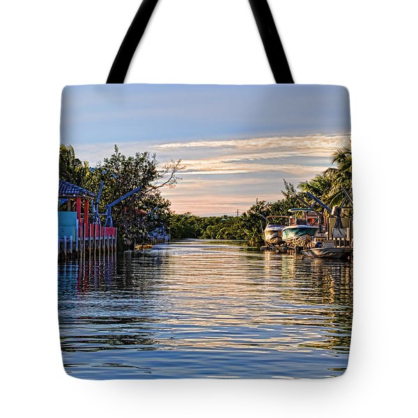 Key Largo Canal Tote Bag by Chris Thaxter
