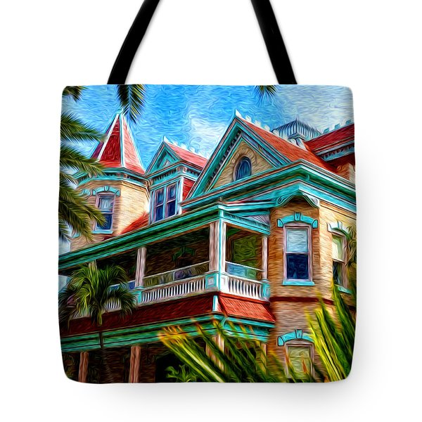 Key West Southern Most Hotel Tote Bag by Bill Cannon