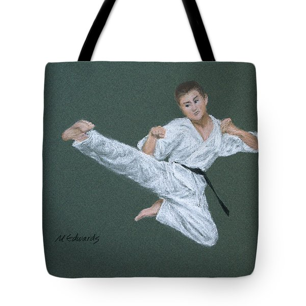 Kick Fighter Tote Bag by Marna Edwards Flavell