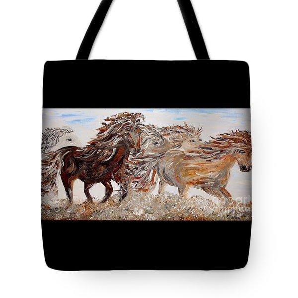 Kicking Up Dust Tote Bag by Eloise Schneider