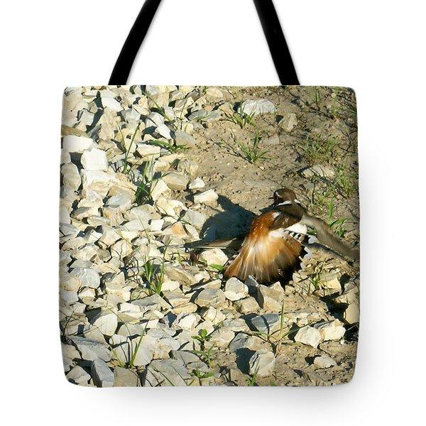 Killdeer Broken Wing Act Tote Bag by Douglas Barnett