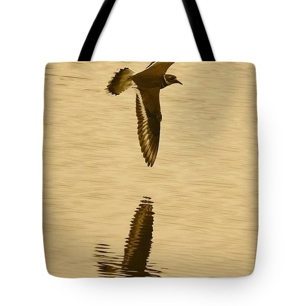 Killdeer Over The Pond Tote Bag by Carol Groenen