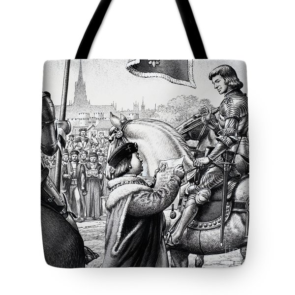 King Henry Vii Tote Bag by Pat Nicolle