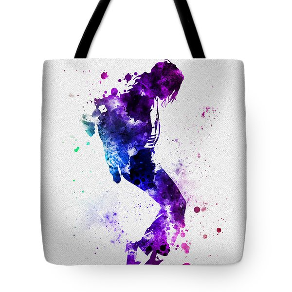 King Of Pop Tote Bag by Rebecca Jenkins