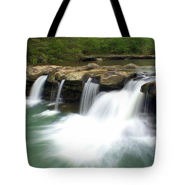 King River Falls Tote Bag by Marty Koch