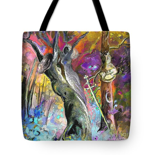 King Solomon And The Two Mothers Tote Bag by Miki De Goodaboom