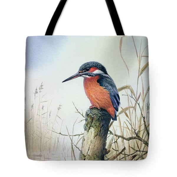 Kingfisher Tote Bag by Carl Donner
