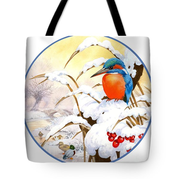 Kingfisher Plate Tote Bag by John Francis