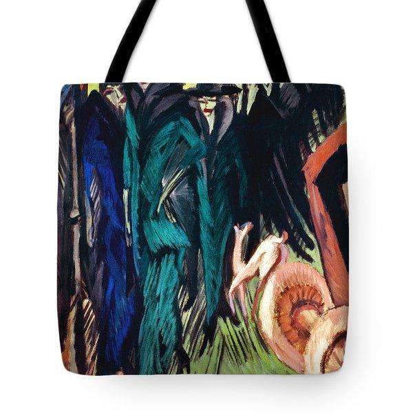 Kirchner: Street Scene Tote Bag by Granger