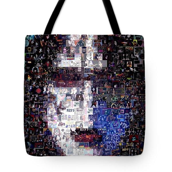 Kiss Ace Frehley Mosaic Tote Bag by Paul Van Scott