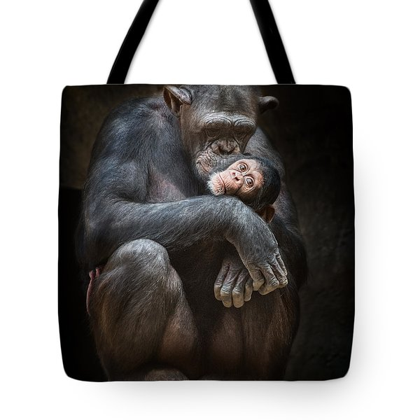 Kiss From Mom Tote Bag by Jamie Pham