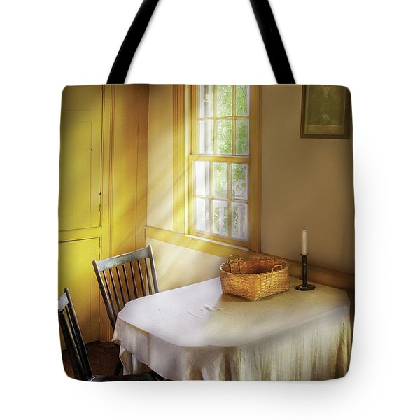 Kitchen - The Empty Basket Tote Bag by Mike Savad