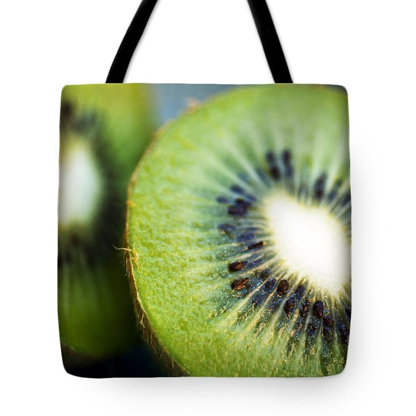Kiwi Fruit Halves Tote Bag by Ray Laskowitz - Printscapes