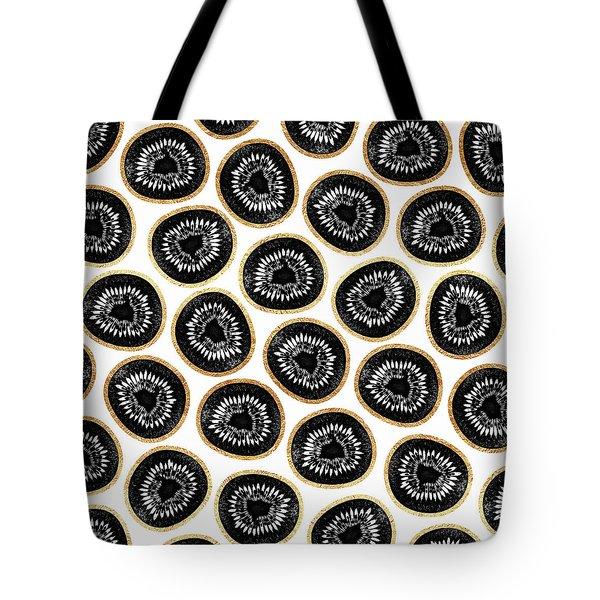 Kiwi Pattern Tote Bag by Elisabeth Fredriksson