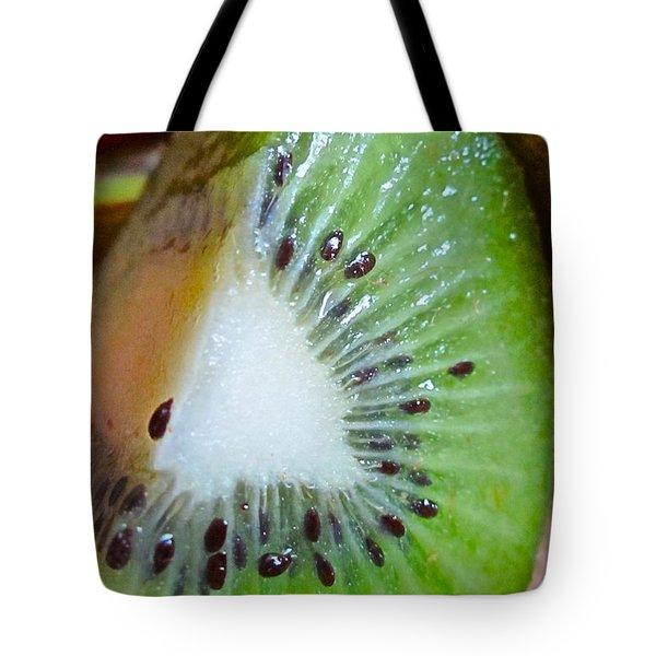 Kiwi Seed Display Tote Bag by Gwyn Newcombe