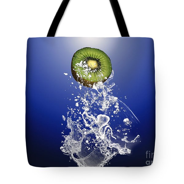 Kiwi Splash Tote Bag by Marvin Blaine