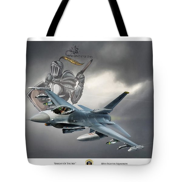 Knight Of The Sky Tote Bag by Peter Chilelli