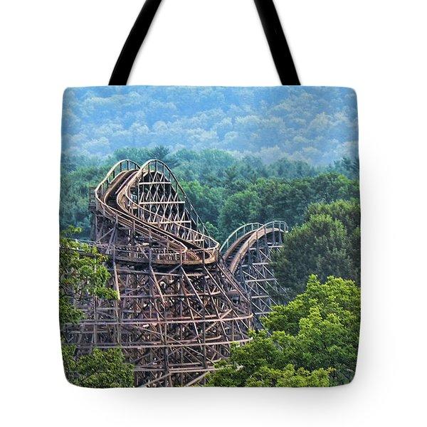 Knobels Wooden Roller Coaster  Tote Bag by Paul Ward