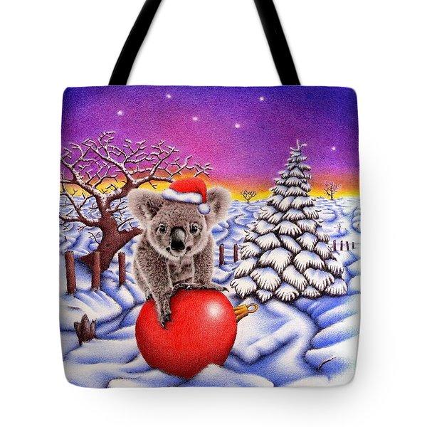 Koala On Ball Tote Bag by Remrov