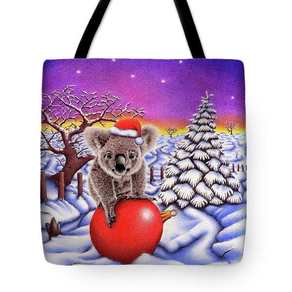Koala On Christmas Ball Tote Bag by Remrov