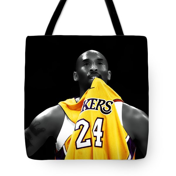 Kobe Bryant 04c Tote Bag by Brian Reaves