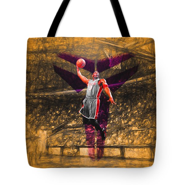 Kobe Bryant Black Mamba Digital Painting Tote Bag by David Haskett