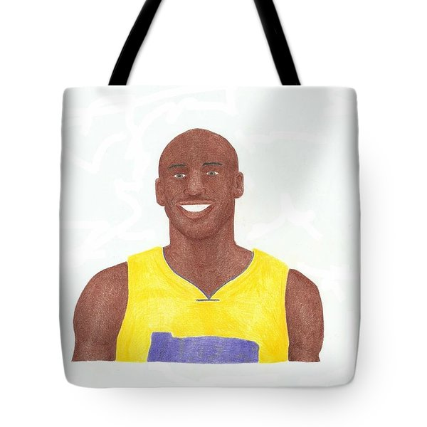Kobe Bryant Tote Bag by Toni Jaso