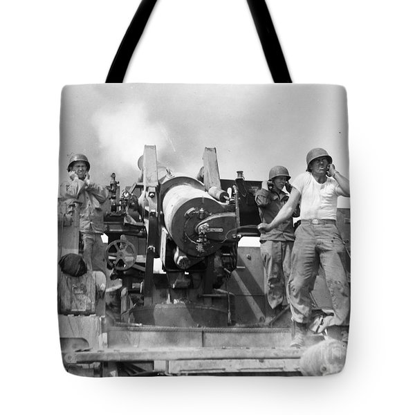 Korean War: Artillerymen Tote Bag by Granger