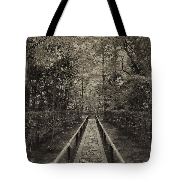 Koto-in Zen Temple Forest Path - Kyoto Japan Tote Bag by Daniel Hagerman