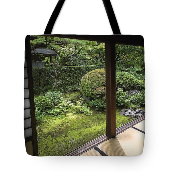KOTO-IN ZEN TEMPLE SIDE GARDEN - KYOTO JAPAN Tote Bag by Daniel Hagerman